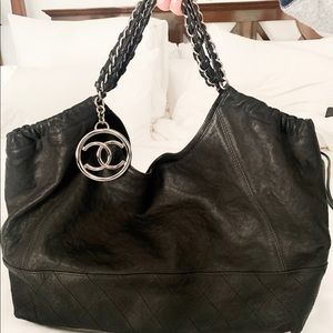 Large Chanel leather  tote